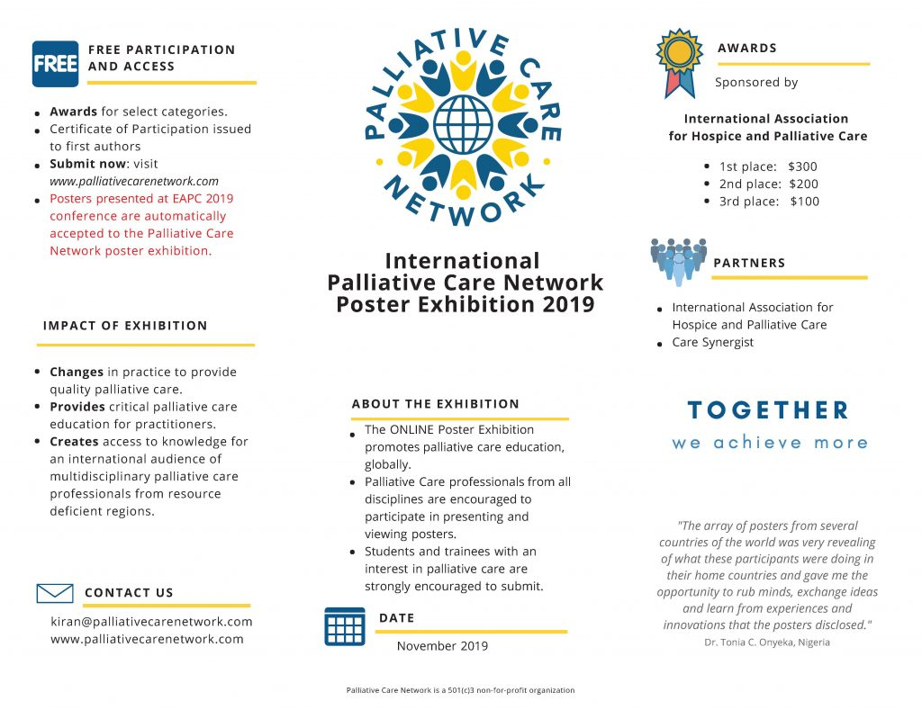 Poster Exhibition 2019 info