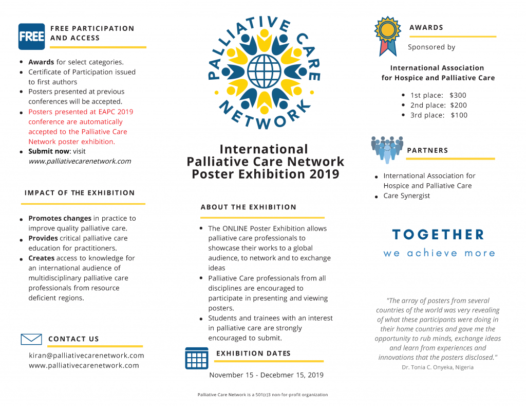 Palliative Care Network Poster Exhibition 2019