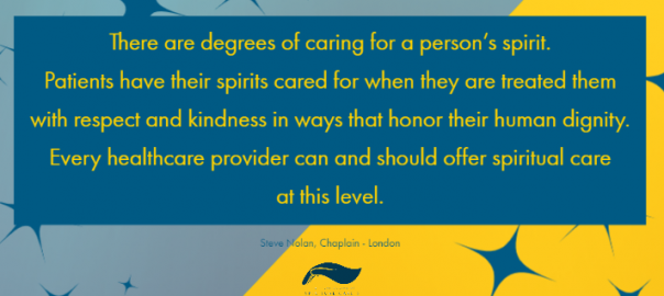 There are degrees of caring for a person's spirit.
